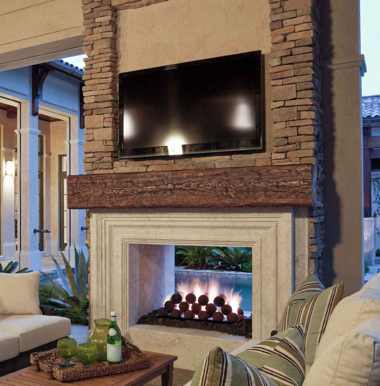 Fireplace systems outdoor masonry brick fireplaces for See thru fireplaces