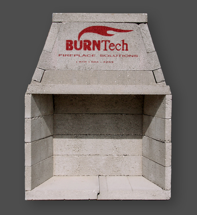 Modular fireplace kits 33 quot pre cast masonry firebox Prefab outdoor wood burning fireplace